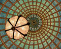 Tiffany glass dome ceiling Royalty Free Stock Photo