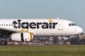 Tiger Airways Tigerair Airbus A320 aircraft at Sydney Airport. Royalty Free Stock Photo