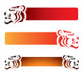 Tiger banners Royalty Free Stock Photos