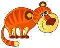 Tiger cartoon african wild animal character isolated characters Royalty Free Stock Photography