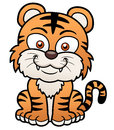 Tiger cartoon vector illustration of Stock Images
