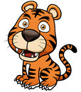Tiger cartoon vector illustration of Stock Photos