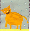 Tiger cat children post card Stock Photography