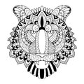 Tiger coloring book vector illustration Royalty Free Stock Photo