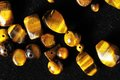 Tiger eye stones ready to make handmade jewelry Stock Photography