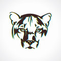 Tiger face icon illustration background Stock Images