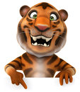 Tiger fun d generated illustration Stock Image