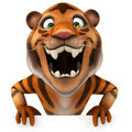 Tiger fun d generated illustration Stock Images