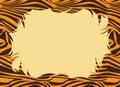 Tiger Fur Print Border Stock Images