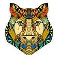 Tiger head sketch