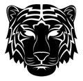 Tiger head tattoo eps illustration design Stock Photo