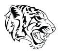 Tiger head tattoo eps illustration design Stock Photos