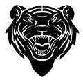 Tiger head tattoo eps illustration design Royalty Free Stock Photo