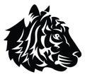 Tiger head tattoo eps illustration design Stock Image