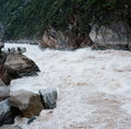 Tiger leaping gorge the raging rapids of Stock Photo