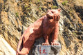 Tiger leaping gorge sculpture at Stock Image