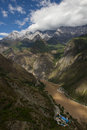 Tiger leaping gorge view into the in yunnan province china Royalty Free Stock Photography