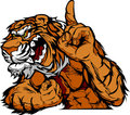 Tiger Mascot Body Cartoon Royalty Free Stock Image
