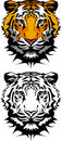 Tiger Mascot Vector Logo Royalty Free Stock Photos