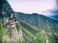 Tiger monastery bhutan Foto de Stock