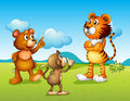 A tiger a monkey and a rat illustration of Royalty Free Stock Photography