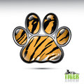Tiger paw button Stock Images