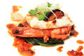 Tiger prawn in XO sauce Stock Images