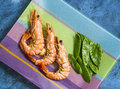Tiger prawns Royalty Free Stock Photo