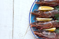 Tiger prawns/shrimp Royalty Free Stock Photo