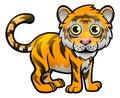 Tiger Safari Animals Cartoon Character