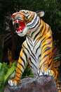 Tiger sculpture colorful in thailand Royalty Free Stock Photo