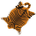 Tiger skin as a carpet. Vector illustration Royalty Free Stock Photo