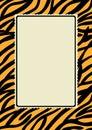 Tiger Skin Print Border Frame Royalty Free Stock Photo