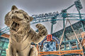 Tiger outside Comerica Park, Detroit, Michigan Royalty Free Stock Photo