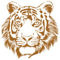 Tiger stencil this is an attractive and powerful artwork of Royalty Free Stock Images