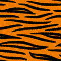 Tiger striped skin seamless pattern, vector Royalty Free Stock Photo