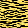 Tiger Stripes Seamless Wallpaper Vector Random Pattern