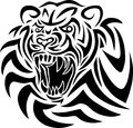 Tiger tribal art tattoo design Stock Photos