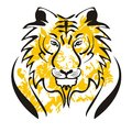 Tiger vector head on a white background Stock Photography