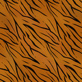 Tiger wild skin leather seamless pattern texture Royalty Free Stock Photo