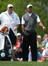 Tiger Woods and caddie Steve Williams Stock Images