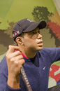 Tiger woods in the famous wax museum madame tussauds london england Royalty Free Stock Photo
