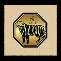 Tiger Zodiac Icon Royalty Free Stock Photos