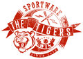 The tigers sportswear vector illustration ideal for printing on apparel clothes Stock Photo