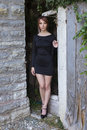 Tight Black Dress Royalty Free Stock Photo