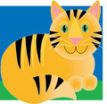 Tigre de chat Image stock