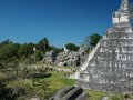 Tikal maya site the large square with temple i guatemala at the frontier to mexico Stock Photo