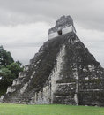 Tikal temple a view of one of the temples at the archeological site of in present day guatemala Stock Photos
