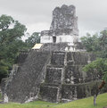 Tikal temple a view of one of the temples at the archeological site of in present day guatemala Royalty Free Stock Images