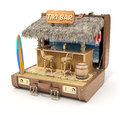 Tiki bar in the case old d illustration Stock Photography